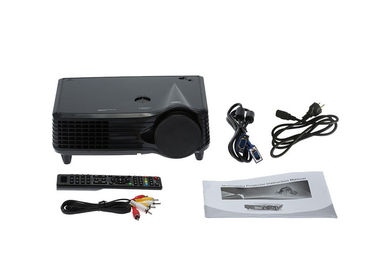 Compact 1080P Mini LED Projector / Portable PC Projector For Powerpoint Presentations