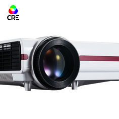China Smart 1280x800 LED LCD Projector , Android Dual Core Wifi Home TV Projector supplier