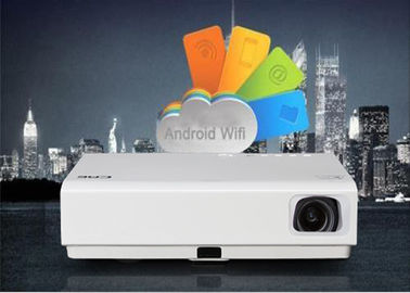Commercial DLP Mini Smart Android Projector , 3LED Android Wifi Led Projector
