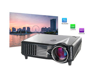 China Portable LCD 800x480 LED Multimedia Projector With HDMI VGA AV USB Port supplier