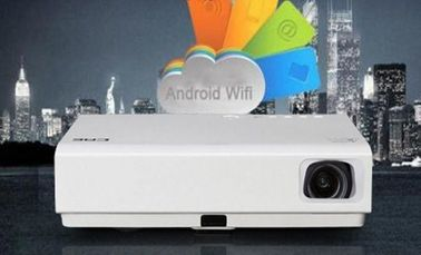 Android WiFI HDMI LED Projector With 3D DLP Display Technology Built In Speaker