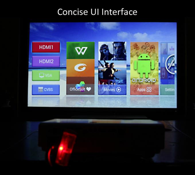 1080P LED Android Mini Projector With Wifi  , 3000 Lumens Bluetooth Video Projector