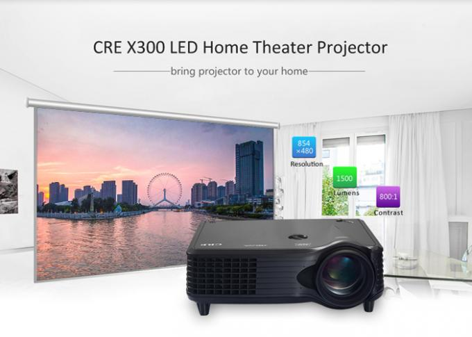 Portable LCD 800x480 LED Multimedia Projector With HDMI VGA AV USB Port